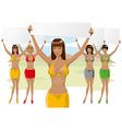 girl in bikini vector image