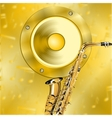 Golden music background vector image