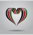 kenyan flag heart-shaped ribbon vector image