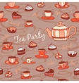 Tea party Seamless pattern vector image