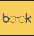 word book typographics concept vector image