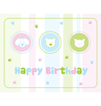 Childrens birthday card vector image vector image