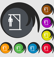 Suicide concept icon sign Symbols on eight colored vector image