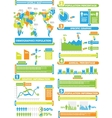 INFOGRAPHIC DEMOGRAP WORLD PERCENTAGE TOY vector image