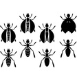 set of insects stencils vector image vector image