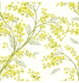 Seamless Spring Pattern with Sprig of Mimosa vector image