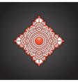 Silver rosette ornament vector image
