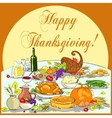 Thanksgiving background with space for text vector image
