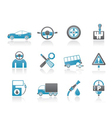 car services and transportation icons vector image vector image