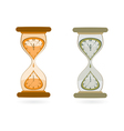 Hourglass with Wall Clocks vector image