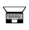 black icon laptop cartoon vector image