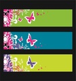 butterfly fantasy banner vector image