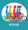 cycling infographic design vector image