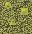 Geometric Birds pattern vector image