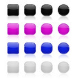 glass buttons gray purple blue white web icons vector image