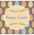 Happy Easter greeting card with eggs Happy Easter vector image