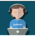 man support vector image
