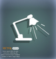 Reading-lamp icon On the blue-green abstract vector image