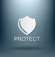 shield a symbol of protection shield vector image
