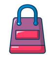 shopping bag icon cartoon style vector image