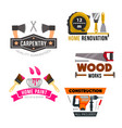 work tool and hardware icons set vector image