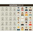 Professions Flat Icons Outline icons and vector image
