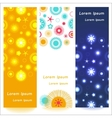 Set of 3 abstract shiny banners vector image vector image