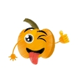 pumpkin expressions silly face vector image