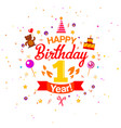 first birthday greetings card vector image
