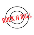 rock n roll rubber stamp vector image