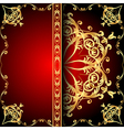 background frame red vector image vector image