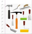 building tools with on paper vector image vector image