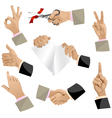 Hands set isolated eps10 vector image vector image
