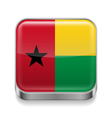 Metal icon of Guinea Bissau vector image