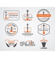 Hookah labels badges and design elements vector image