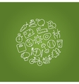 healthy lifestile icons in circle vector image
