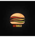 burger symbol hamburger icon design background vector image