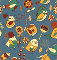 flower and bird Seamless texture vector image