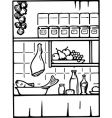 food and drink in the kitchen vector image