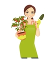 Gardening woman vector image