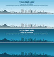 los angeles skyline event banner vector image