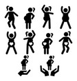 pregnancy exercise pregnancy yoga or pilates vector image
