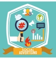 Social Advertising and Marketing online vector image