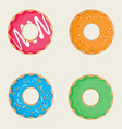Tasty donuts vector image