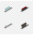isometric transport set of delivery tank vector image