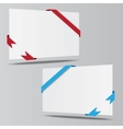 empty isometric paper sheet whith ribbons vector image