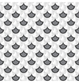 Seamless grayscale river fish scales vector image