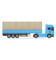 truck semi trailer 03 vector image vector image