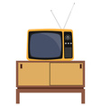 Retro tv and furniture vector image