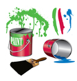 Painting Supplies vector image